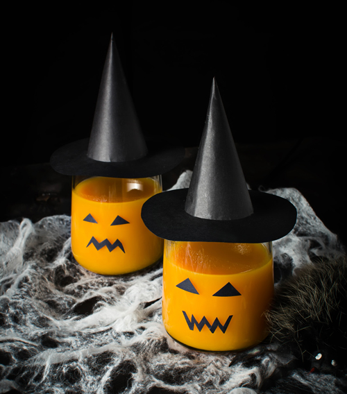 zumo de mandarina y zanahoria para halloween